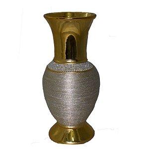 Vaso de Cerâmica Dourado M