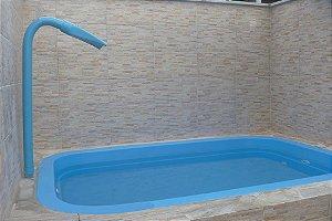 Piscina de Fibra Lagoa Azul - 2,97 m x 1,98 m x 0,59 m - 3.200 litros - Diazul Piscinas