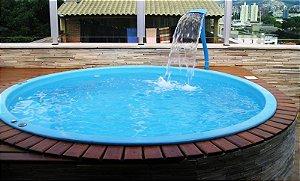 Piscina de Fibra Mundo Azul - 2,47 m x 0,69 m - 3.300 litros - Diazul Piscinas
