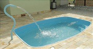 Piscina de Fibra Tarde Azul - 3,48 m x 2,48 m x 0,92 m - 6.000 litros - Diazul Piscinas