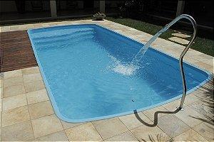 Piscina de Fibra Praia Azul - 5,89 m x 2,86 m x 1,30 m - 18.000 litros - Diazul Piscinas