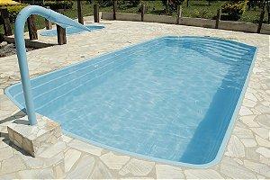 Piscina de Fibra Verão Azul - 7,42 m x 3,37 m x 1,40 m - 29.000 litros - Diazul Piscinas