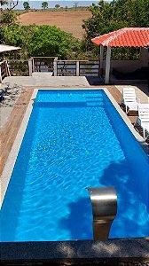 Piscina de Fibra Oceano Azul - 8,50m x 3,80m x 1,40m - 45.000 litros - Diazul Piscinas