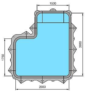 Piscina Hybrida - Modelo 160010 - Mini - 2,50 m x 1,75 m x 1,00 m - Fluidra