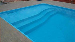 Piscina de Fibra Mar Azul - 9,14 m x 4,21 m x 1,40 m - 47.000 litros - Diazul Piscinas
