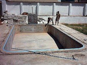Serviço de Mão de obra para piscina vinil m² (consideração parede e fundo)