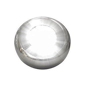"Refletor Super Led 4,5 w Inox Monocromático - Rosca 1/2"" - Solar"