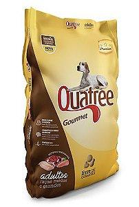 Ração Premium Quatree Gourmet para Cães Adultos de Raças Medias e Grandes 25Kg (Sem Corante)