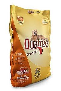 Ração Premium Quatree Gourmet para Cães Adultos de Raças Medias e Grandes 15Kg (Com Corante)