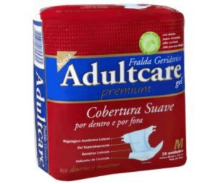 Fralda Geriatrica Adultcare Premium - M - 10 Unidades