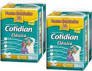 Fralda Geriatrica Cotidian Classica G 72 Unid