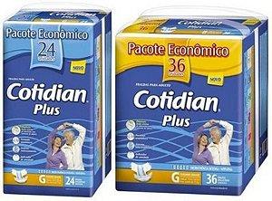 Fralda Geriatrica Cotidian Plus G Kit C/ 60 Unid
