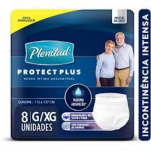Fralda Geriátrica Plenitud Protec Plus Pants G/Xg C/8