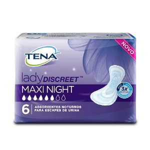 Absorvente Tena Lady Discreet Maxi Night 6 Unidades