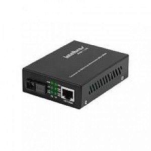 Conversor de mídia Fast Ethernet monomodo 20 km