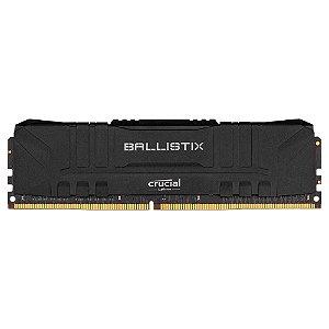 Crucial Ballistix 8GB DDR4 3000 Mhz, CL15, Preto (BL8G30C15U4B)