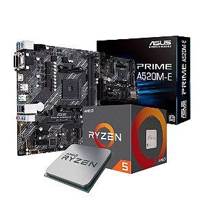 KIT AMD Asus Prime A520M-E + Ryzen 5 3600