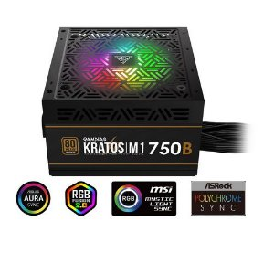 Fonte Gamdias KRATOS M1-750W 80 Plus Bronze PFC Ativo RGB (M1-750B)