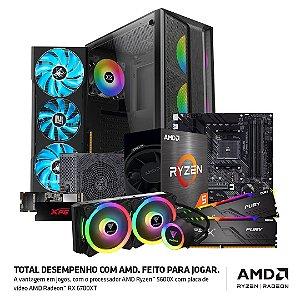 PC Gamer AMD Ryzen 5 5600X, RAM 32GB, SSD M.2 512GB, RADEON RX 6700XT 12GB