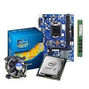 KIT (Seminovo) Processador i3-4170 + PCWare IPMH81G1+ Memória Kingston 4Gig (1 x 4Gig) DDR3 1333hz