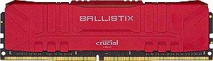 Crucial Ballistix 8 GB (1X8) 2666MHz DDR4 CL16 Vermelha (BL8G26C16U4R)
