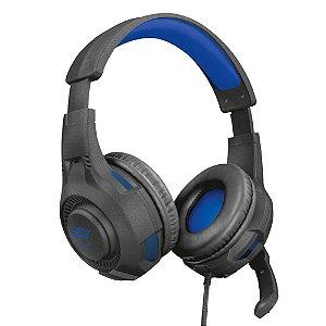 Headset Trust GXT 307 Ravu para PS4/PC, Drivers 40mm, Preto/Azul (23250-02)
