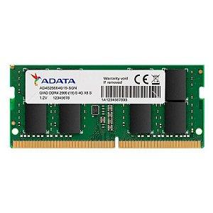 Memória Note ADATA 8GB DDR4 2666 (PC4 21300) 204-Pin SO-DIMM (AD4S26668G19-SGN)