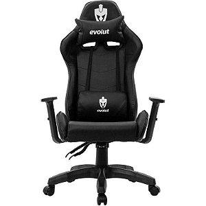 Cadeira Gamer Evolut Lite EG-904 Preta Reclinável