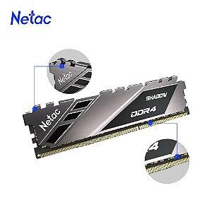 Netac Shadow 16GB DDR4 3200 Mhz, CL16, Cinza (NSDEU1BD40163200LS8SP)