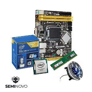 KIT (Seminovo) Processador i5-4570S + Cooler DEX Dx-7120 + Biostar H81MHV3 + Memória Keepdata 8Gig (1 x 8Gig) DDR3 1600hz