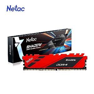 Netac Shadow 8GB DDR4 3200 Mhz, CL16, Vermelha (NSDRU1BD4083200LN8SP)