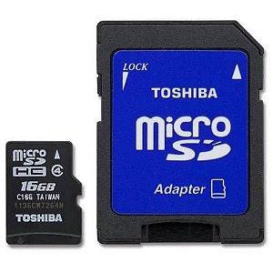 Cartão de Memória Toshiba 16GB Micro Micro SD UHS-I Classe 10 (SD-C016GR7AR040A-BR)