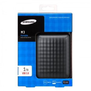 HD Externo Samsung M3 Portable 1TB USB 3.0 Black (HX-M101TCB/G)