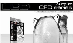 Fan Cougar White LED 120mm Hydraulic (Liquid) Bearing Ultra Silent Fan (CF-D12HB-W)