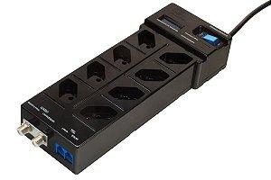DPS Clamper Multi Proteção C/ contador de surtos (X-FL-PT-8Bt-2J1-2CF-LD-P)