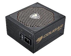 Fonte Cougar GX Series GX600 V3 600W Semi Modular 80 PLUS GOLD PFC Ativo (GX600V3)