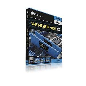 Memória Corsair Vengeance LP Azul 16GB (2 x 8GB) DDR3 1600Mhz (CML16GX3M2A1600C10B)