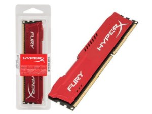 Kingston HyperX Fury Series 8GB DDR3 1600 (PC3 12800) Vermelha (HX316C10FR/8)