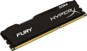 Memória Kingston HyperX Fury 8GB (1 x 8G) DDR4 2400MHz Preta (HX424C15FB2/8)