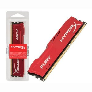 Memória Kingston HyperX FURY Red Series 4GB 1600MHz DDR3 CL10 (HX316C10FR/4)