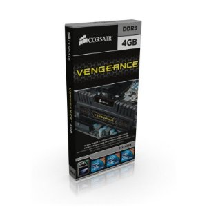 CORSAIR Vengeance Preto 4GB DDR3 1600 (PC3 12800) (CMZ4GX3M1A1600C9)