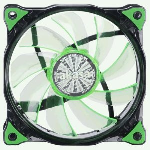 Fan Akasa Vegas 120MM 15 LEDs Verde (AK-FN091-GN)