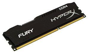 Memória Kingston HyperX Fury 4GB (1 x 4G) DDR4 2400MHz Preta (HX424C15FB/4)
