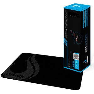Mousepad Rise Gaming Full Black Médio Fibertek (RG-MP-01-FBK)
