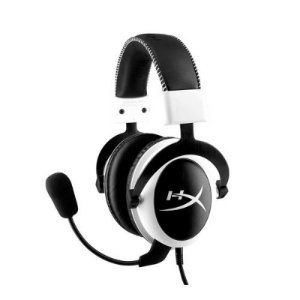 Headset Kingston HyperX Cloud Branco/Preto (KHX-H3CLW)