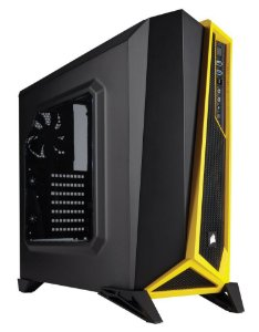 Gabinete CORSAIR Carbide Series SPEC-ALPHA Mid Tower Preto/Amarelo (CC-9011094-WW)