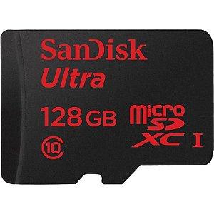Cartão Sandisk Micro Sd Ultra Classe 10 128gb Com Adaptador (SDSQUNC-128G-GN6IA)