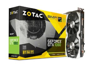 ZOTAC GeForce GTX 1060 AMP! 6GB GDDR5 Dual-Fan IceStorm Cooling FREEZE Fan Stop (ZT-P10600B-10M)