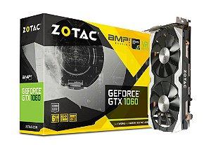 ZOTAC GeForce GTX 1060 AMP! 6GB GDDR5 Dual-Fan IceStorm Cooling FREEZE Fan Stop (ZT-P10600B-10M)