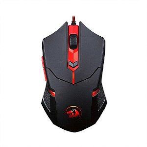 Mouse Redragon M601 Centrophorus 3200dpi 6 botões e 8 Ajustes de Peso USB